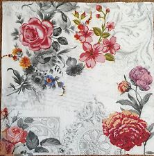 20 paper napkins Decoupage Craft Collection Serviette Shabby Roses Flowers