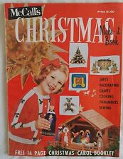Vintage 1950s McCall's CHRISTMAS MAKE-IT IDEAS Magazine Vol 2 ©1959 Crafts Gifts