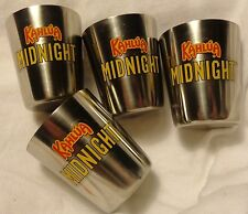 Kahlua Set of 4 Shot Glasses....All Metal Shot....Shiny...Stainless Steel?...NEW