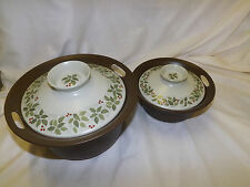 Norge Figgjo Flameware Decor: Brazil pattern 2 Covered Casserole Dishes Bakers