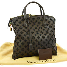 AUTH LOUIS VUITTON LOCKIT VERTICAL GM HAND TOTE BAG MONOGRAM DESIRE B30732