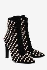 Jeffrey Campbell Elphaba Embellished Suede Boots size 7 black new in box