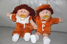 """Xavier Roberts Cabbage Patch Kids 16"""" Girl & Boy Dolls with Clothes 1978, 1982"""