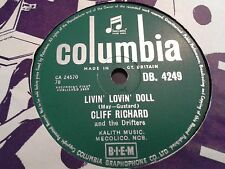 CLIFF RICHARD & The Drifters: LIVIN' LOVIN' DOLL / STEADY WITH YOU. 78rpm (1959)