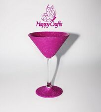 Glitter Sparkle Cocktail Martini Glass Pink