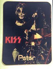 vTg AUCOIN Orig KISS 1976 Peter CRISS LOVE GUN ROCK CONCERT t-shirt iron-on NOS