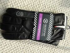Isotoner Signature Men's Dress Gloves size XL Black Leather Thermaflex Lining