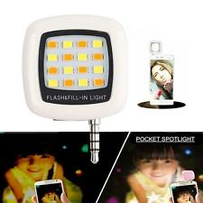 Mini 16 LED Flash Fill Light Smartphone Selfie Portable For IOS Android White C5