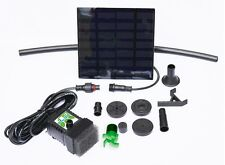 Solar Powered Small Pond /Feature Pump Kit with Filter, Pipe & Panel Stand