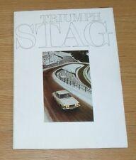 Triumph Stag V8 Roadster Brochure 1971