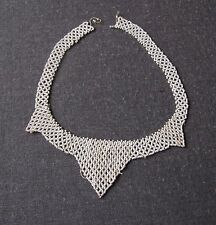 ANTIQUE 1920'S FLAPPER WHITE MICRO BEADED COLLAR NECKLACE