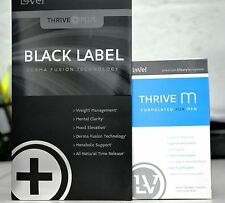 Le-Vel Thrive Men Vitamins and Black DFT Patches 30-Day Supply.