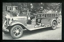 Fire Fighting postcard 1935 International Pumper truck G.P.M.