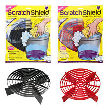 2x Scratch Shield Grit Guard Adjustable Car Wash Bucket Water Filter BLACK + RED