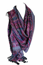 Beautiful Paisley Ethnic Print Pashmina Feel Wrap Shawl Scarf Scarves Hijab