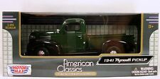 "Motor Max 1941 Plymouth Pickup truck diecast 1:24 scale 8"" model car Green M230"