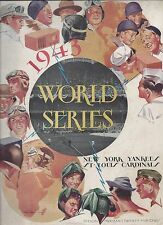 1943 World Series program St. Louis Cardinals @ New York Yankees Gm2 part.scored
