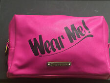 Juicy Couture 7' PVC Zippered Cosmetic Case With Logo Insignia-Women-Brand New