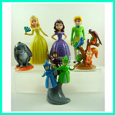 6 pcs Princess Sofia the First Clover Amber Figures Toy Doll Cake Toppers +CHARM