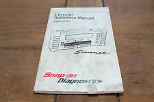 Chrysler 1997 8th Edition Snap-on Automobile Scanner Reference Manual