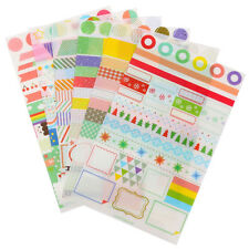 6pcs Cute Transparent Calendar Scrapbook Diary Book Decor Paper Planner Sticker