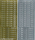 """Peel Offs """"FATHER'S DAY"""" Gold or Silver X 2 Sheets (A)"""