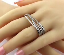 925 Sterling Silver 2 Finger Ring, Turkish Handmade Fashion Double Ring! Sz 8.5
