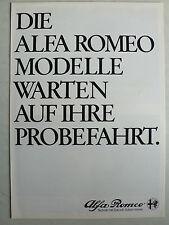 Prospekt Alfa Romeo Programm mit 6, GTV 6 2.5, Spider etc., 1.1982, 8 Seiten