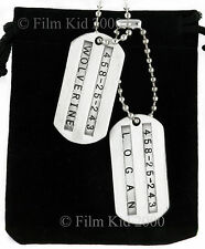 2 Wolverine Origins Dog Tags ID First Class Military Marvel X-Men SM Jame Logan