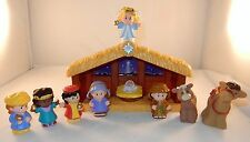 Fisher Price Little People 10 Piece Nativity Lot - Baby Jesus - Mary - Joseph