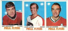 7 1970-71 TOPPS HOCKEY PHILADELPHIA FLYERS CARDS (DORNHOEFER/LACROIX+++)