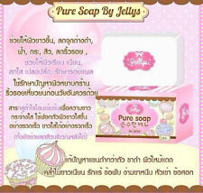 3x100g.Jellys Pure Soap By Jellys Body Whitening Lightening Gluta+Free shipping