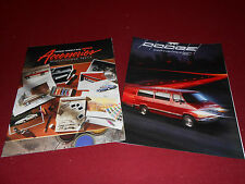 1991 DODGE CARAVAN, RAM VAN & RAM WAGON BROCHURE + OPTIONS, ACCESSORIES CATALOG
