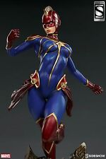 SIDESHOW EXCLUSIVE Captain MARVEL PREMIUM FORMAT FIGURE STATUE AVENGERS X-MEN Ms