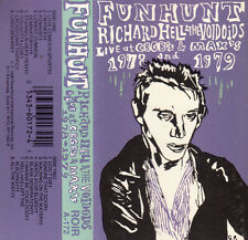 "K 7 AUDIO (TAPE)  RICHARD HELL & THE VOIDOIDS ""LIVE AT CBGB'S""  (MADE IN U.S.A)"