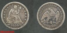 USA ! silver quarter liberty seated 1854, argent, en TB