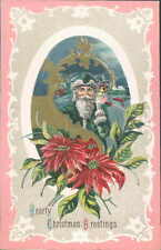 Vintage Postcard A Merry Christmas Santa & toys Embossed Bright Vivid Colors