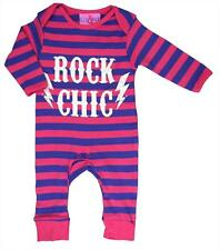Lily and Jack babygrow Romper suit   0-3 months  Pink & Blue stripe - Rock chic