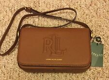 NWT RALPH LAUREN LEATHER NOEL CROSSBODY HANDBAG PURSE BROWN BOURBON