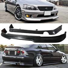 2001-2005 LEXUS IS300 BLACK GDY ADD ON PU FRONT REAR BUMPER LIP SPOILER COMBO