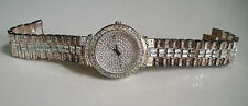 Men's hip hop CZ Bling  clubbing silver finish  bracelet  watch