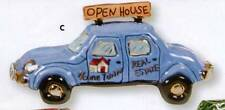 RETIRED ~ HOMETOWN REAL ESTATE CAR BY CLAYWORKS-BLUE SKY ~ RETIRED