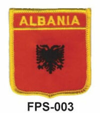 2-1/2'' X 2-3/4 ALBANIA Flag Embroidered Shield Patch -officially Licensed