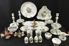 22 Piece Lot Herend Rothschild Bird China-- Serving, Decorative, and Table Items