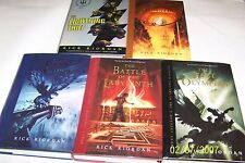 Percy Jackson, The Lightning Thief, by Rick Riordan 5VOLS. ALL SIGNED,1ST/1ST