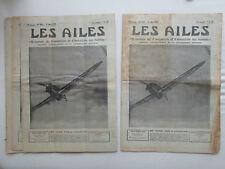 AILES 1939 934 HURRICANE ERCO-310 MESSERSCHMITT VITESSE DU SON DRUINE MOTOPLAN