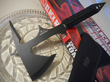 "Black Ronin Tactical Tomahawk Throwing Axe/Ax Hatchet Spike Knife 15"" OA 440 SS"