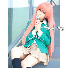 Rosario + Vampire Akashiya Moka 100CM Straight Pink Girls Anime Cosplay Hair Wig