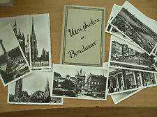SNAP SHOT SOUVENIR ALBUM 12 REAL PHOTOGRAPH VIEWS BORDEAUX FRANCE
