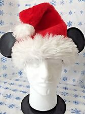 Santa Claus Plush Hat with Mickey Mouse Ears Goofys Hat Co Walt Disney Christmas